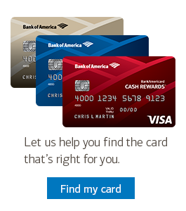 Let us help you find the right card.