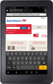 Bank of America Mobile Banking for Kindle Fire™