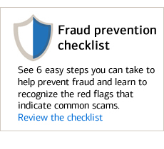 Review the fraud prevention checklist