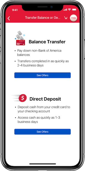 how to accept a bank of america mobile transfer