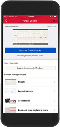 Mobile and online banking features from bank of america reorder checks image ccuart Image collections