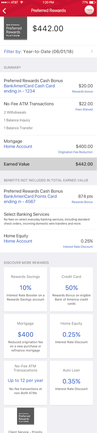 Bank Of America Employee Discounts >> My Rewards All Your Bank Of America Rewards In One Place