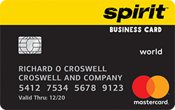 with your Spirit Airlines World Mastercard® for Business credit card