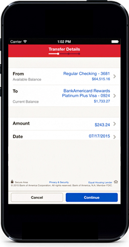 how to cancel a transfer on bank of america app